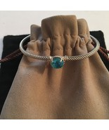 David Yurman  Chatelaine Bracelet 3mm 925 Sterling Silver 9mm Blue Topaz - $295.00