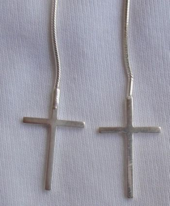 Primary image for  Silver Crosses earrings