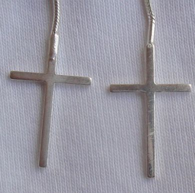 Silver Crosses earrings