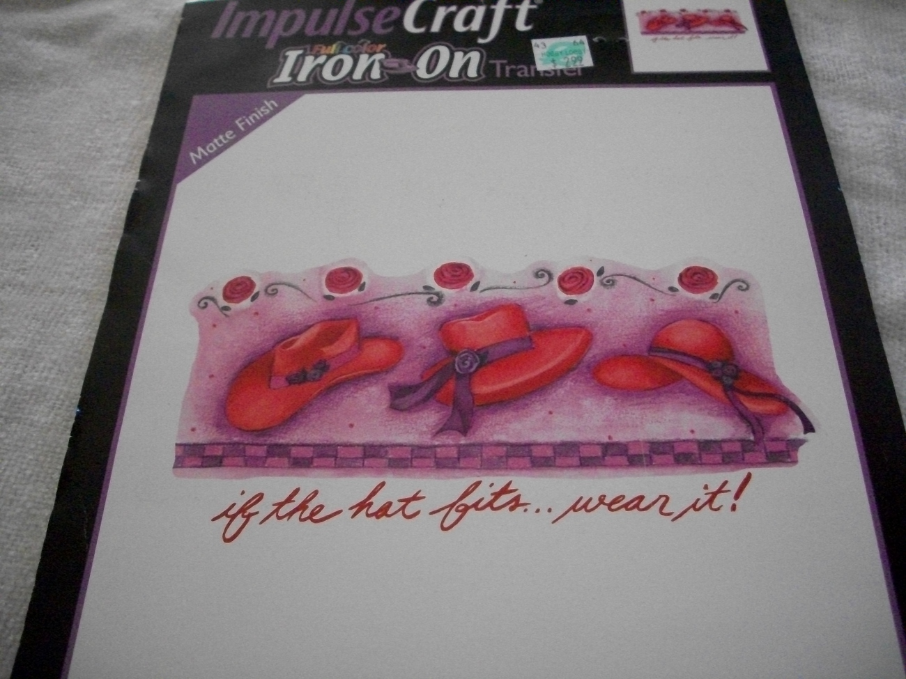 Pink Hats Iron-on Transfer - $5.00
