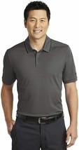 Men's Nike Dri-FIT Edge Tipped Golf Polo, AA1849 060 Multi Sizes Anthracite/Blck - $49.95
