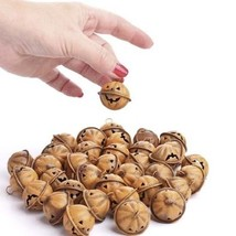 Bulk Package of 36 Rustic Jack O Lantern Face Jingle Bells for Fall and ... - £25.40 GBP