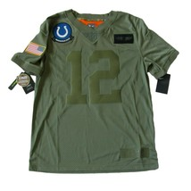 Nike Andrew Luck Colts Salute To Service Jersey Stitched Size Medium NEW... - $69.25