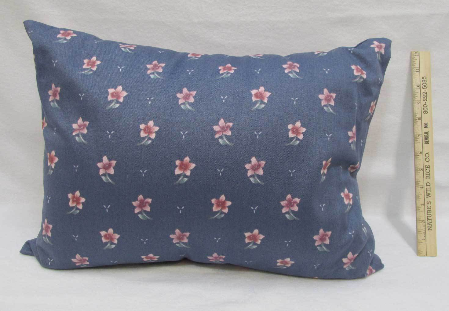 Quallofil Travel Pillow Car Camping Outdoors Blue Pink Floral Sham Down Alt