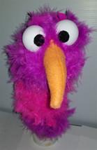 "C22 * Deluxe Custom ""Purple & Pink Striped Bird""  Sock Puppet * Custom Made - $10.00"