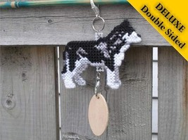 Siberian Husky Deluxe crate tag 2 sided, hang a... - $24.00