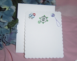 White Handcrafted Paper Baby Boy Card - $5.95