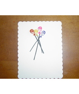 Ivory Handcrafted Paper Quill Balloon Card - $5.95