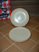 Franciscan brown/tan speckled plates; 1958 - $14.99