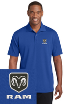 DODGE RAM Royal Blue Embroidered Polo Sport Golf Shirt Polyester Dry-Fit - $24.99+