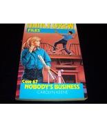 Nancy Drew Mystery paperback 'Nobody's Business' - $8.59