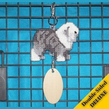 Old English Sheepdog Deluxe crate tag art, hang... - $26.00