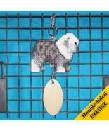 Old English Sheepdog Deluxe crate tag art, hang anywhere show dog agilit... - $26.00