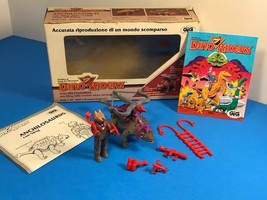 1987 TYCO DINO RIDERS ANCHILOSAURUS RULON FIRE STING ACTION FIGURE BOX C... - $346.45