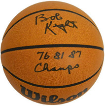 Bobby Knight signed NCAA Wilson Indoor/Outdoor Basketball 76 81 87 Champ... - $164.95
