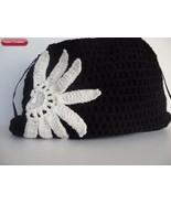 Black White Flower handbag - $29.00