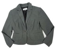 Calvin Klein Gray Single Button Blazer Jacket Women's 8P Lined - $19.24