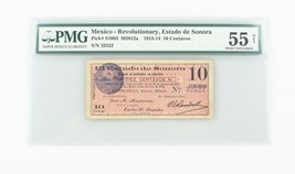 1913-1914 México 10 Moneda AU-55 Red Estado de Sonora About que No Ha Ci... - $197.01