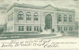 Public Library Easton Pennsylvania vintage 1906 Post Card - $5.00