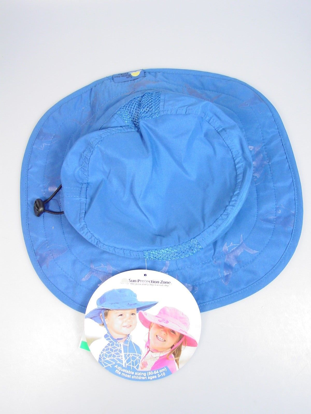Childs Sun Protection hat UPF 50+ Wide Brim  Sun Hat Blue Safari style