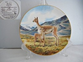 The Vicuna Endangered Species Porcelain Collector Plate - $19.89
