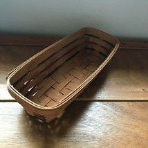 Small 1993 Longaberger Signed & Date Oblong Basket with Red & Blue Stripes –  - $8.41
