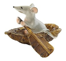 Top Collection 4469 Mouse Rowing Boat Animal Figurine - $12.99