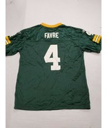Green Bay Packers Brett Favre Green Reebok NFL Football Jersey Youth XL - $10.93