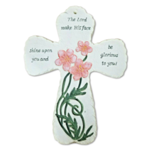 Ceramic Cross The Lord Shine Upon You Verse Wall Decorative Christian Gi... - $8.59