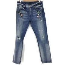 Ei8ht Dreams Embroidery Boyfriend Distressed Jeans women size 26 new NWOT - $127.71
