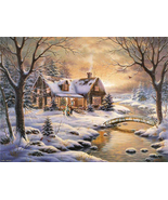 Thomas Kinkade River Cabin Cross Stitch Pattern***LOOK*** - $4.95