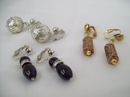 Set of 3 Stunning Vintage Clip-On Earrings - Sarah Coventry (2) - Copper (1)   - $9.99