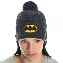 Batman: Black Cape Rolled Knit Beanie Brand NEW! - $23.99