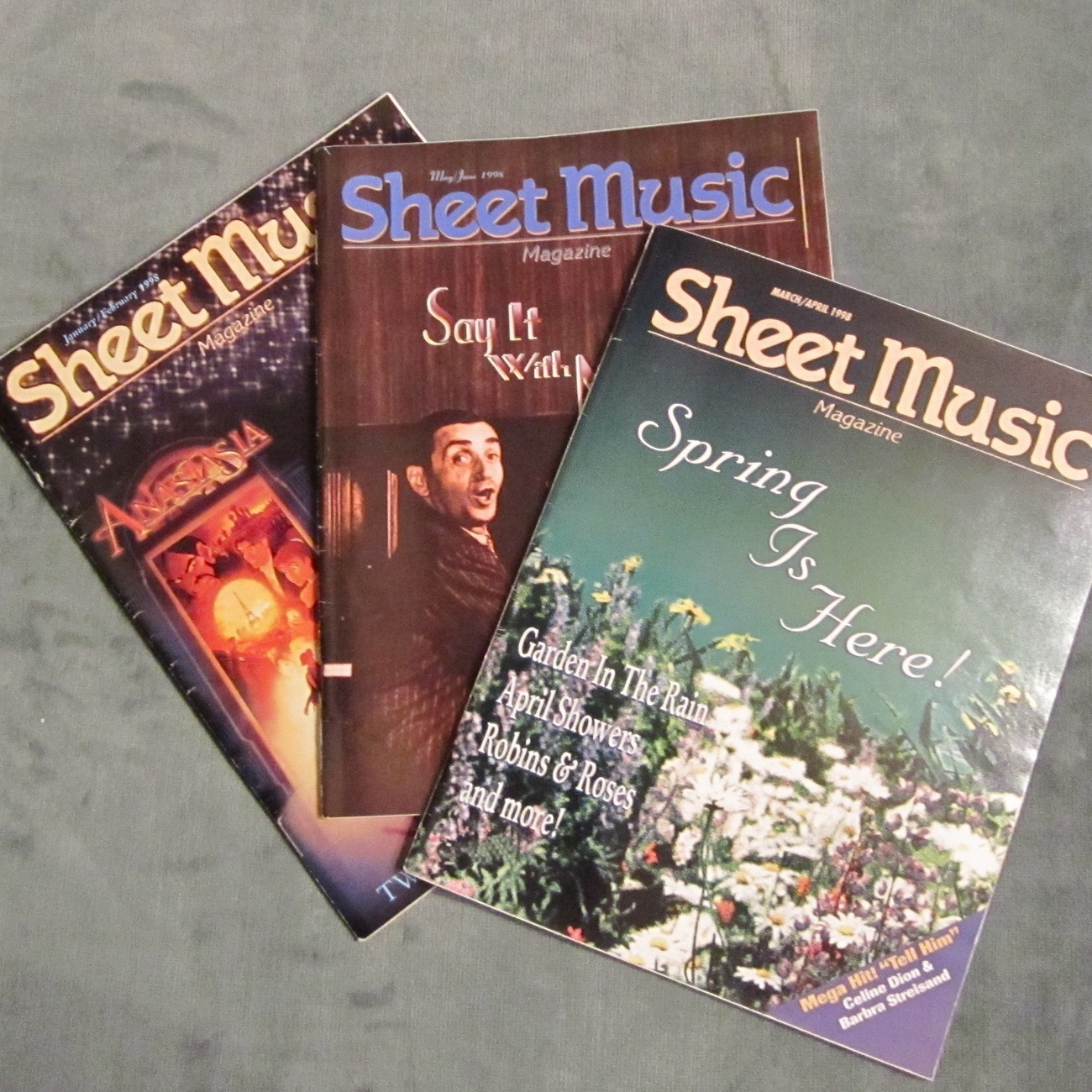 Super lot of 3 sheet music magazine standard piano 1998 for Classic house 1998