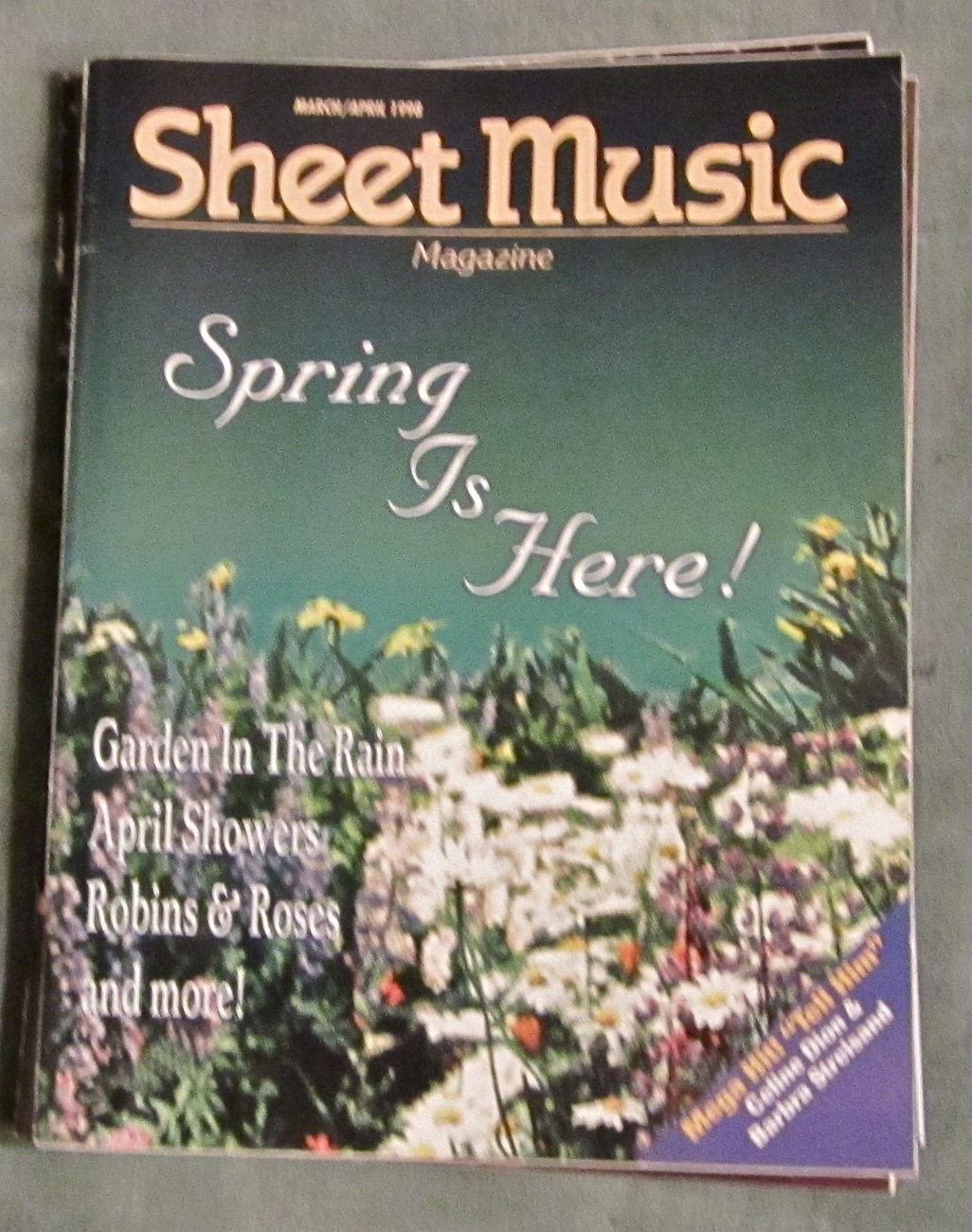 Super lot of 3 sheet music magazine standard piano 1998 for House music 1998