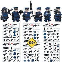 WW2 Navy Military Soldier With 300 Weapon Vest Knife Etc Fit Lego Block,... - $12.99