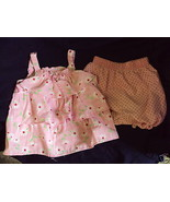 2 PIECE TOP/BLOOMERS- 18 MO-PINK W/RED/WHITE FLOWERS - $7.53