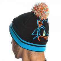 Sonic: Day Glow Black Roll/Slouch Knit Beanie Brand NEW! - $29.99
