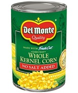 Del Monte Canned No Salt Added Golden Sweet Whole Kernel Corn, 15.25-Ounce - $9.65