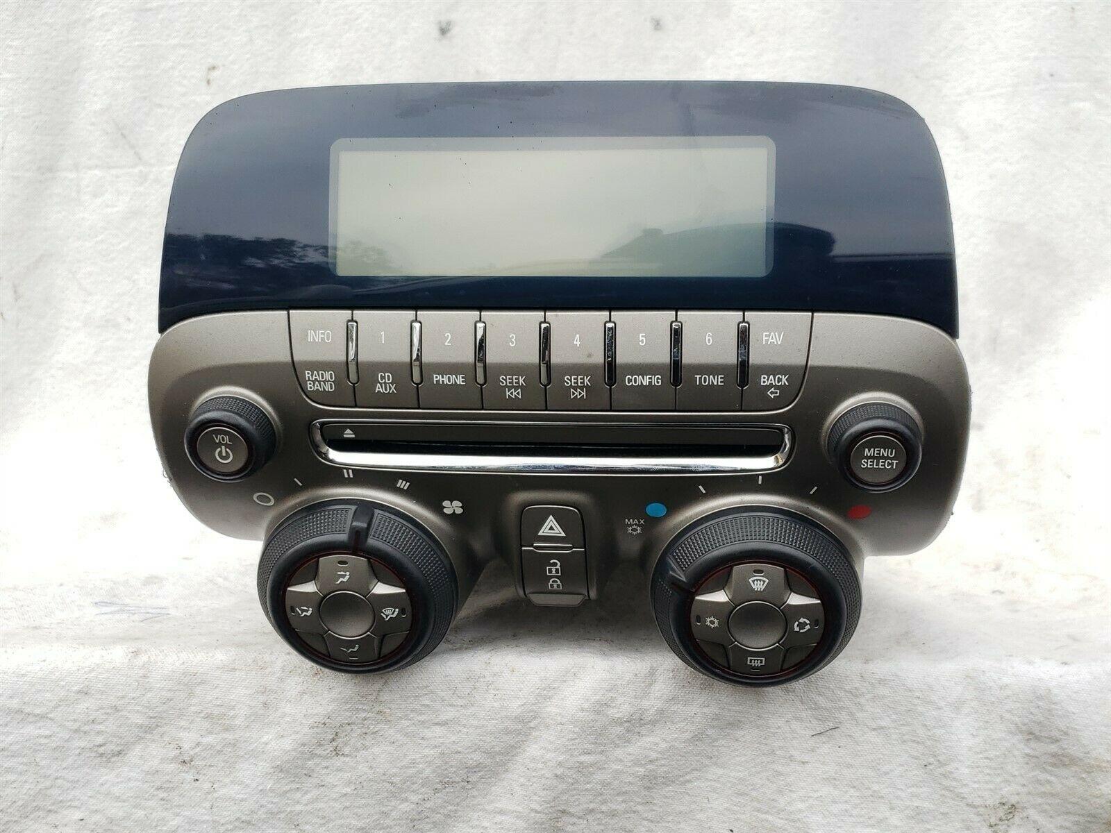10-15 Camaro Radio OEM Climate Control AC Faceplate Display P/n 20990311