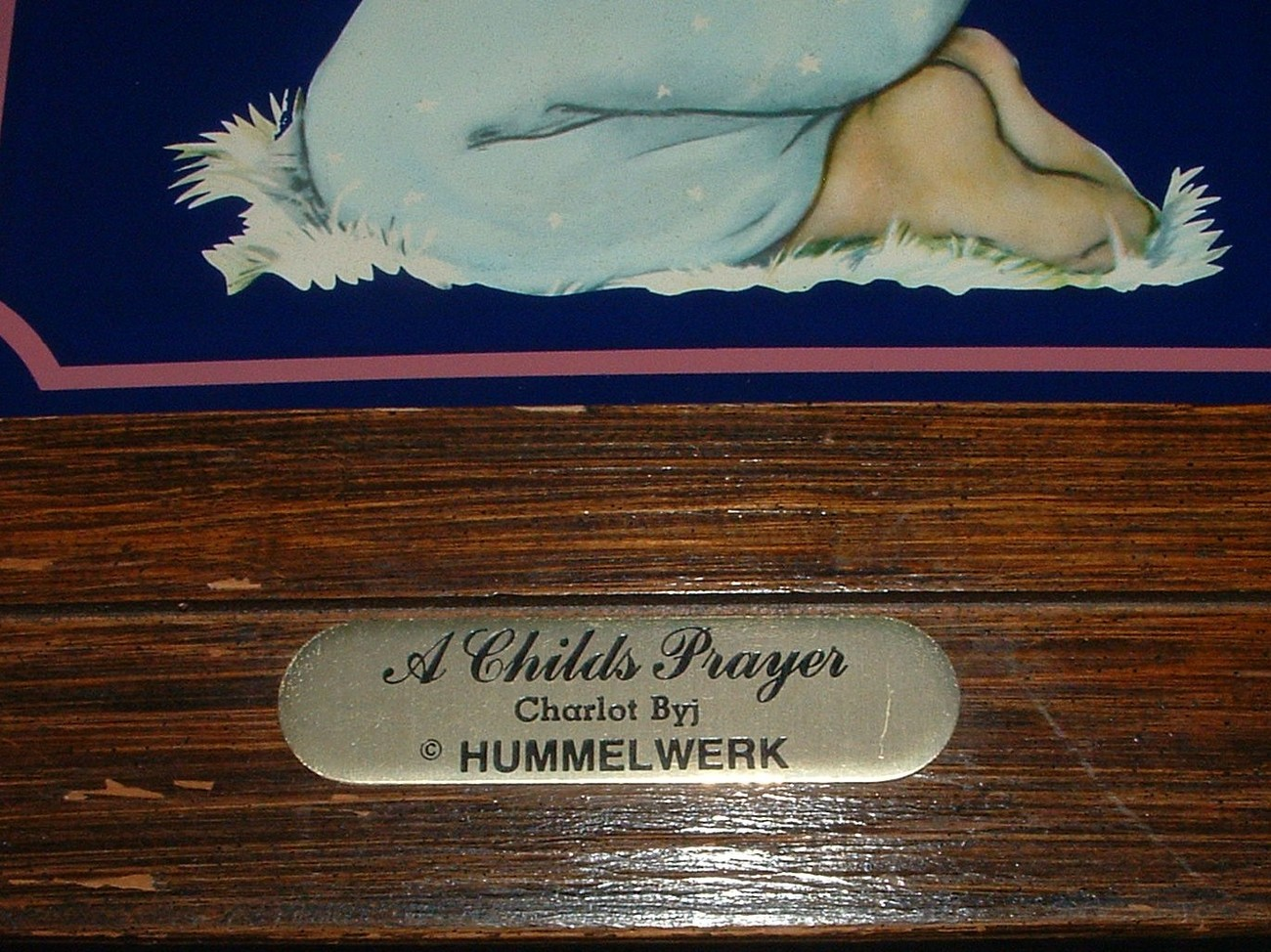 CHARLOT BYJ ~ A CHILDS PRAYER BY HUMMELWERKS FRAMED PICTURE
