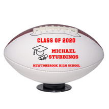 Personalized Custom Class of 2020 Graduation Regulation Football Red Text - $59.95