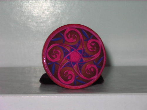 Swirled Pink Pentacle Amulet Talisman - Wicca - Pagan - Witch