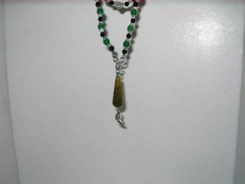 Wiccan Handmade Prayer - Meditation Beads with Gemstone