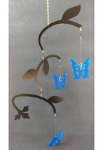 Spinning Butterfly Metal Garden Porch Mobile Windcatcher - $35.00