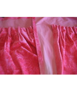 Pink Shabby Crushed Velvet Drapes Curtains Cott... - $130.00