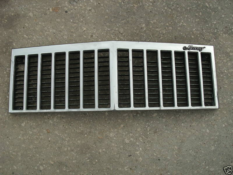 83-87 mercury grand marquis center grille assembly