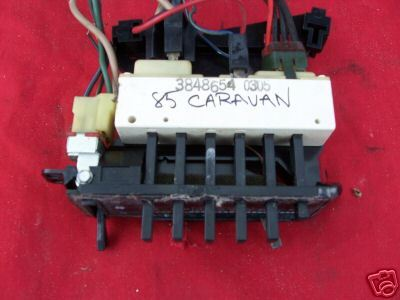 85 Dodge Caravan Tempature Control Switch