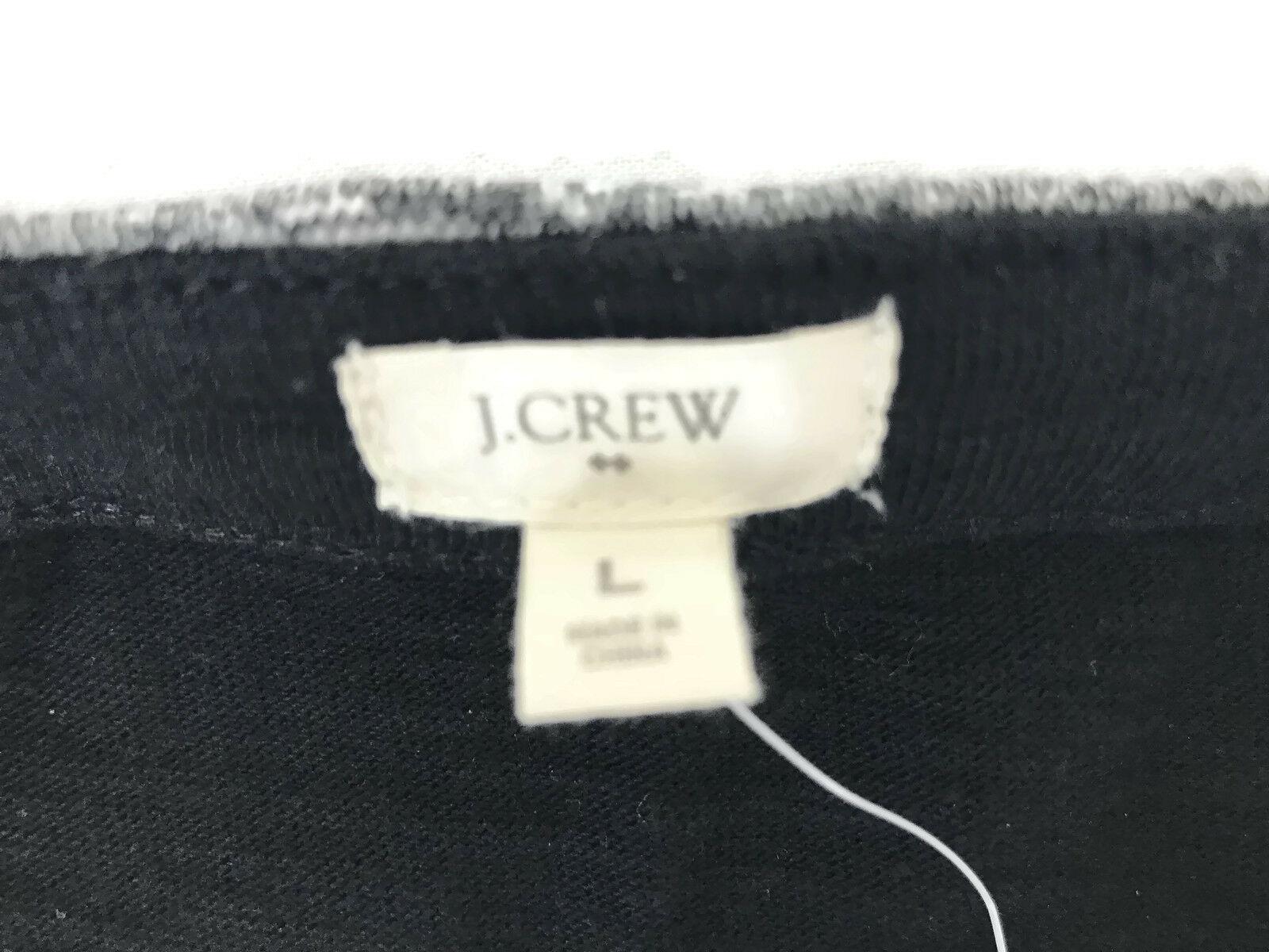 J. Crew Factory Dress Black Gray Stripe Boatneck 3/4 Sleeves Style 02665 Sz L U1 image 6