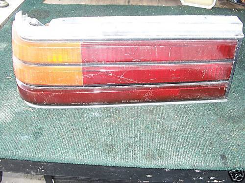 87-88 pontiac 6000 left side taillight assembly